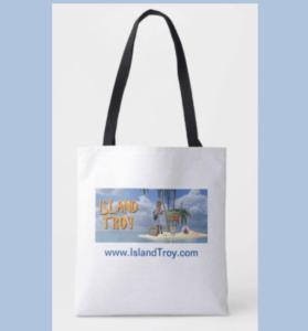 Island Troy Tote Bag